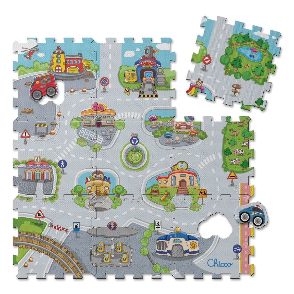 Tapis Puzzle City Jouets Chicco Fr